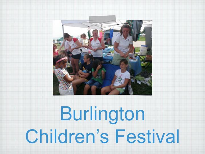 Burlington Children's Festival