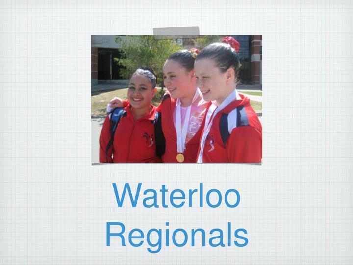 Waterloo Regionals