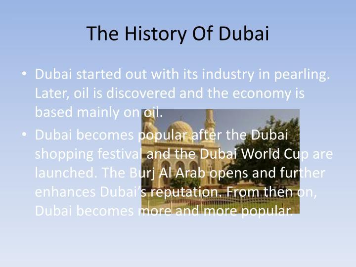 The history of dubai