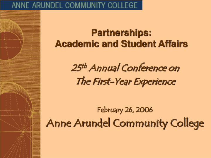 Partnerships academic and student affairs