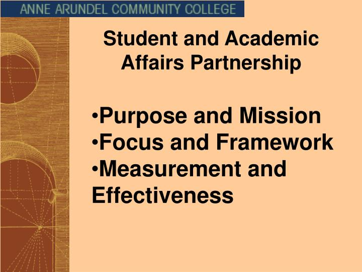 Student and Academic Affairs Partnership