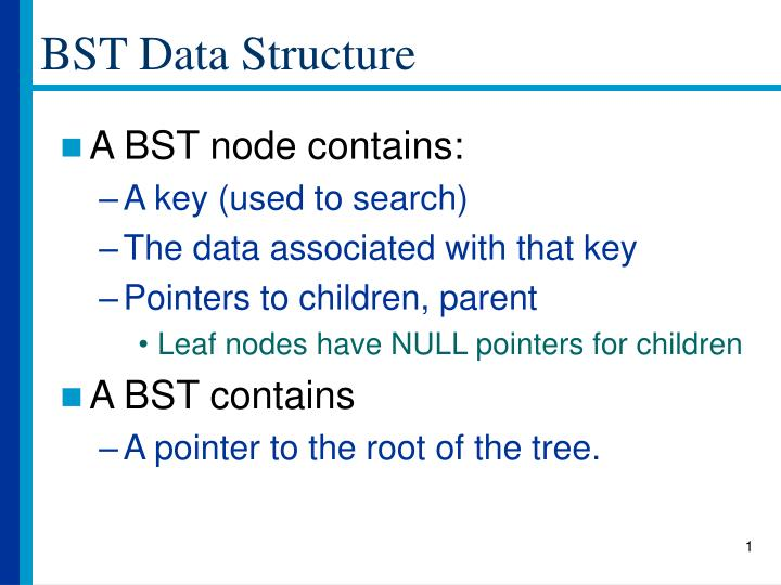 bst data structure n.