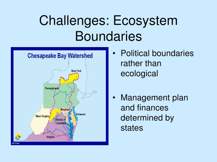 Challenges: Ecosystem Boundaries