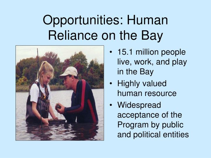 Opportunities: Human Reliance on the Bay
