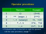 operator precedence1
