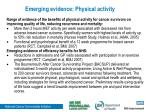 emerging evidence physical activity