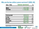 who are the two million cancer survivors 2008 uk