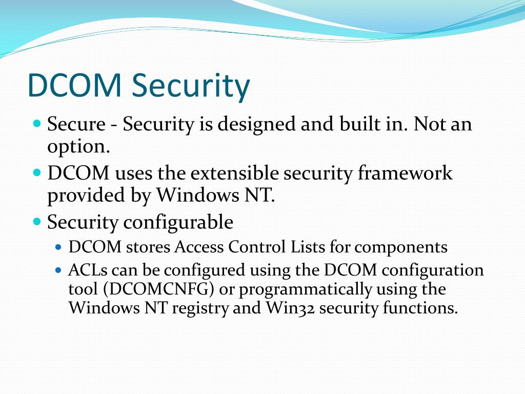 PPT - DCOM Technology PowerPoint Presentation - ID:3783215