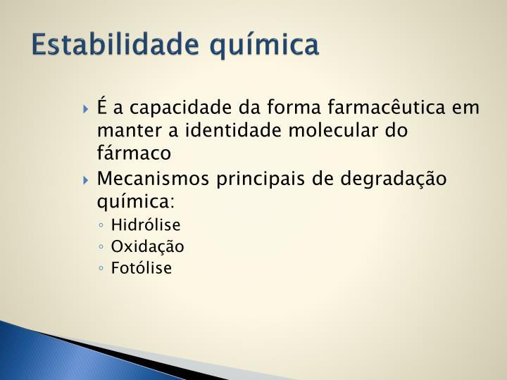 Estabilidade química