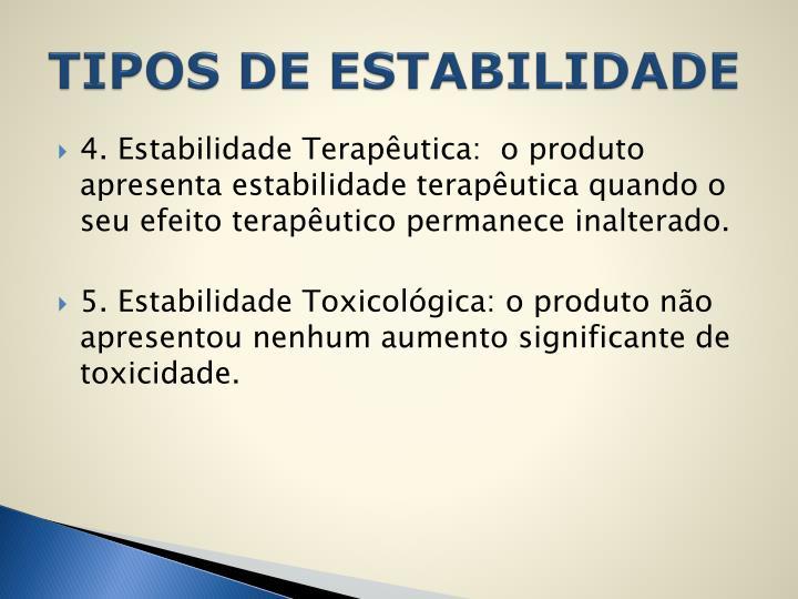 TIPOS DE ESTABILIDADE