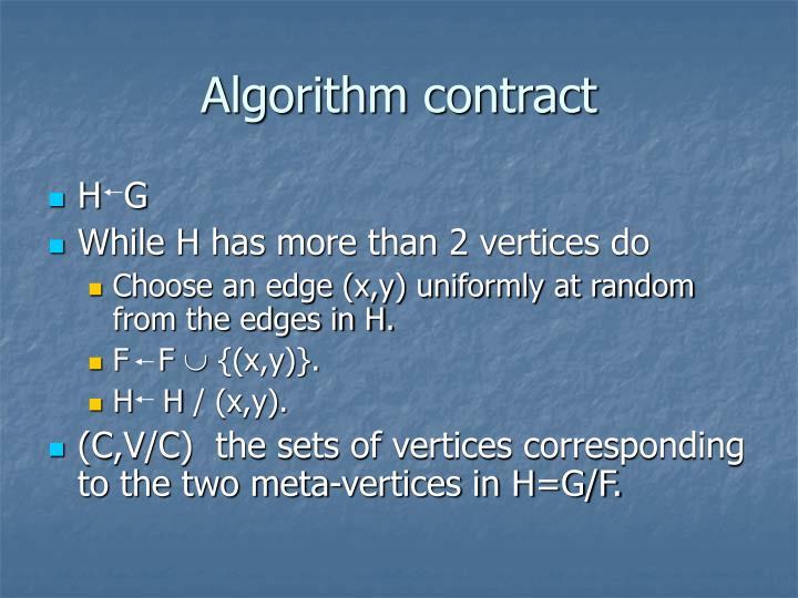 Algorithm contract