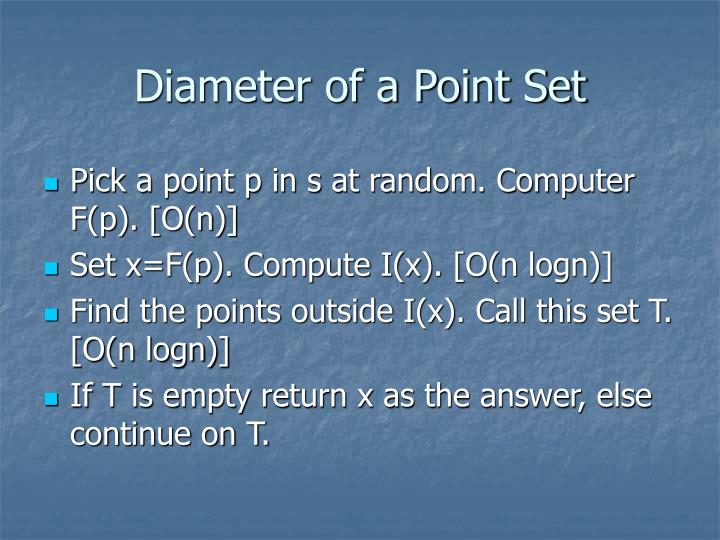 Diameter of a Point Set