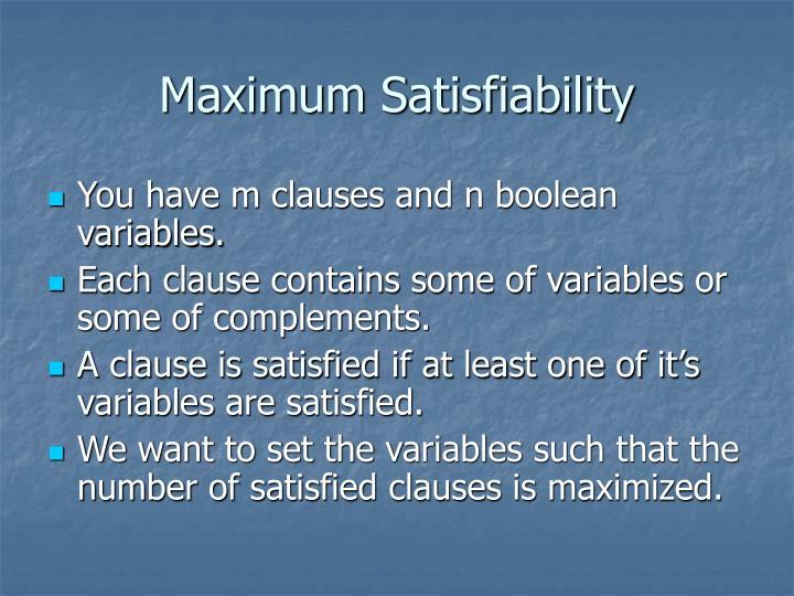 Maximum Satisfiability