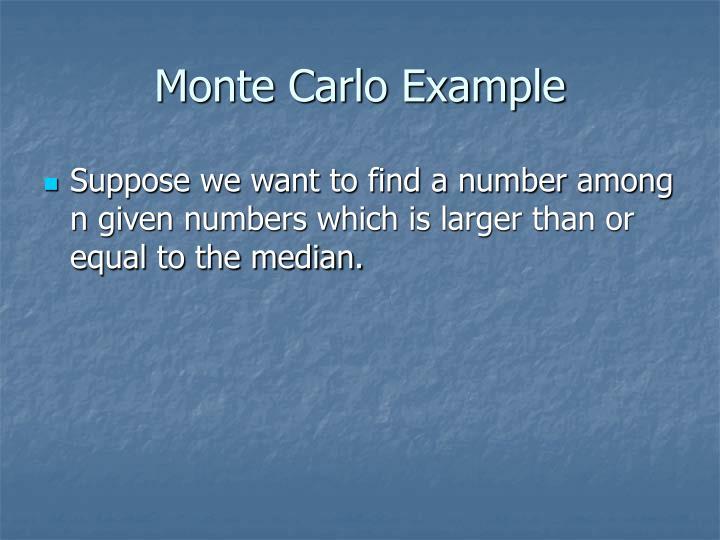 Monte Carlo Example