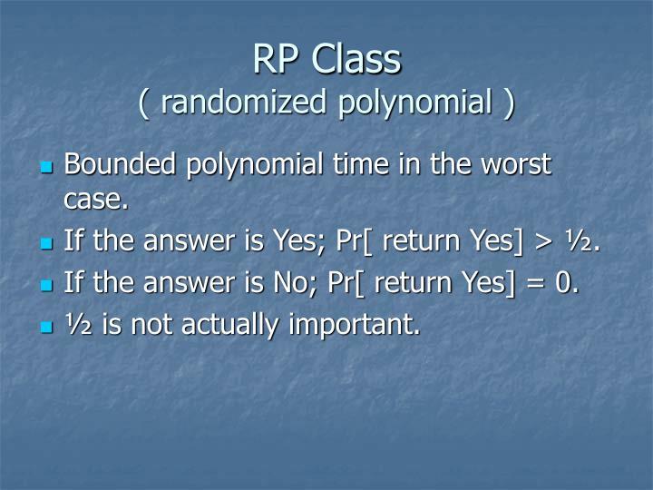 RP Class