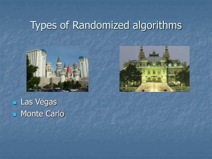 Types of randomized algorithms