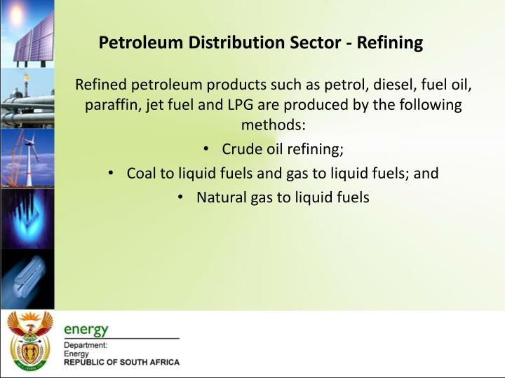 Petroleum Distribution Sector - Refining