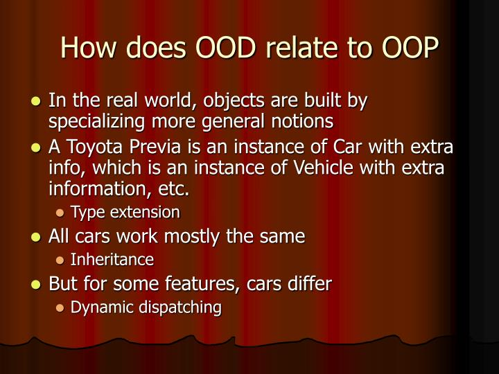 How does OOD relate to OOP