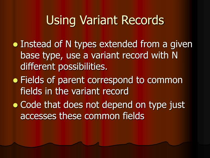 Using Variant Records