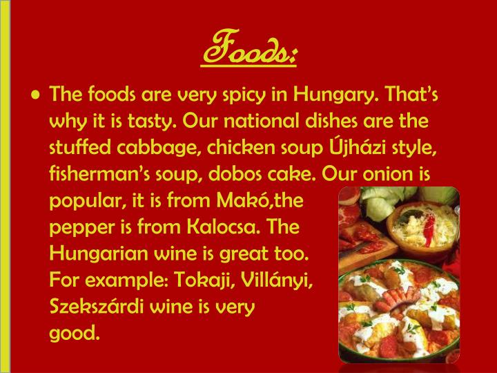 Foods: