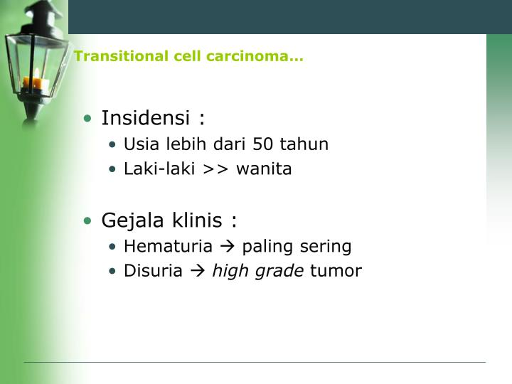 Transitional cell carcinoma…