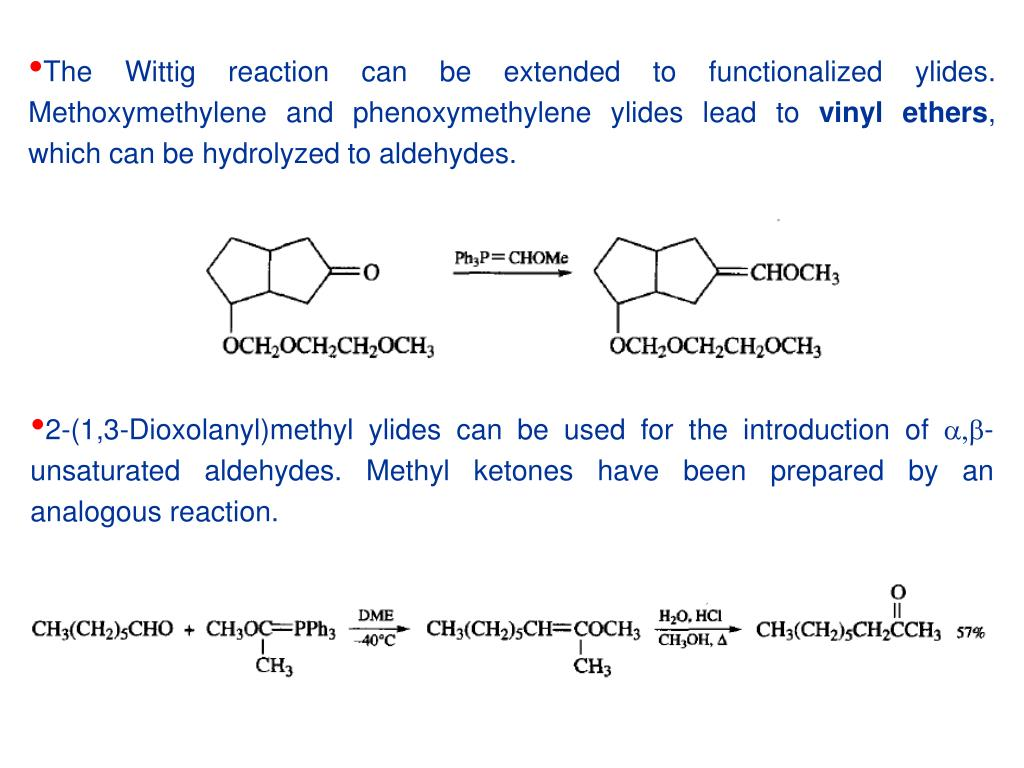 Ppt The Wittig Reaction Involves Phosphorus Ylides As