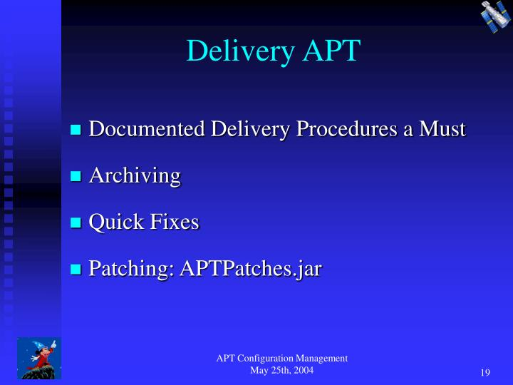 Delivery APT