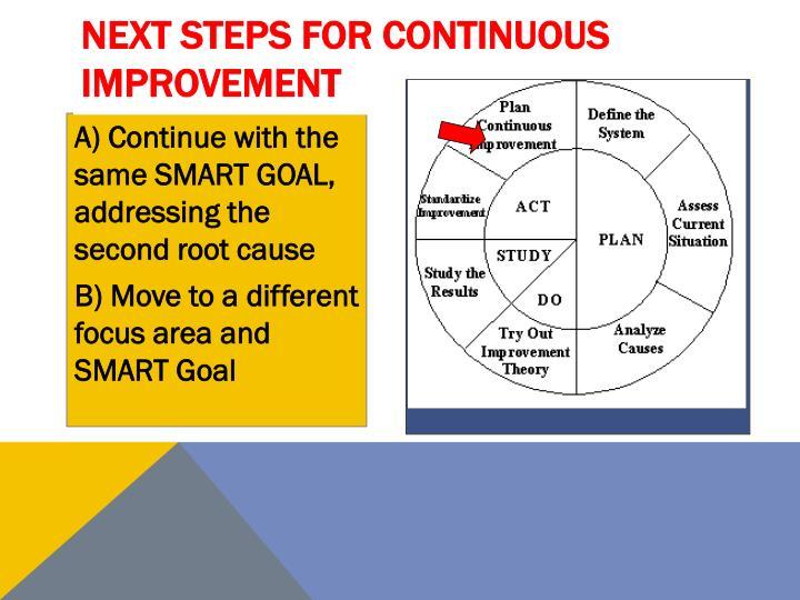 Next Steps for Continuous Improvement