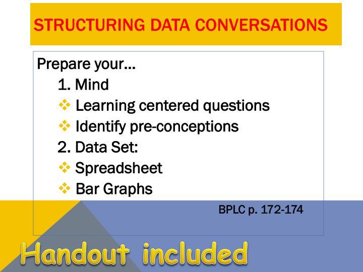 Structuring Data Conversations