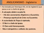 anglicanismo inglaterra