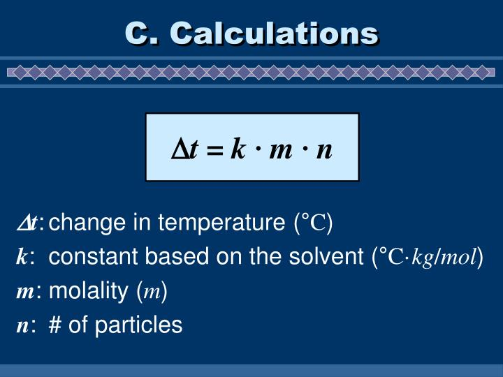 C. Calculations