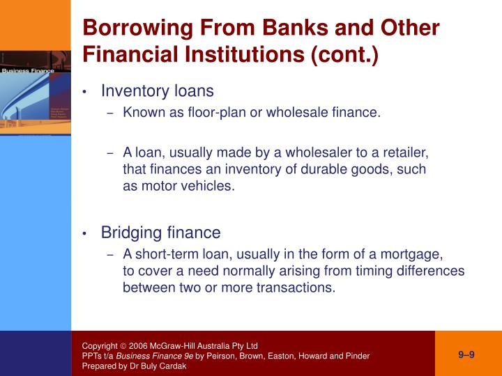 financing institutions other than banks (other than central banks)  institutions are banks in a legal sense  importance within a financial system varies by coun-try other financial corporations.
