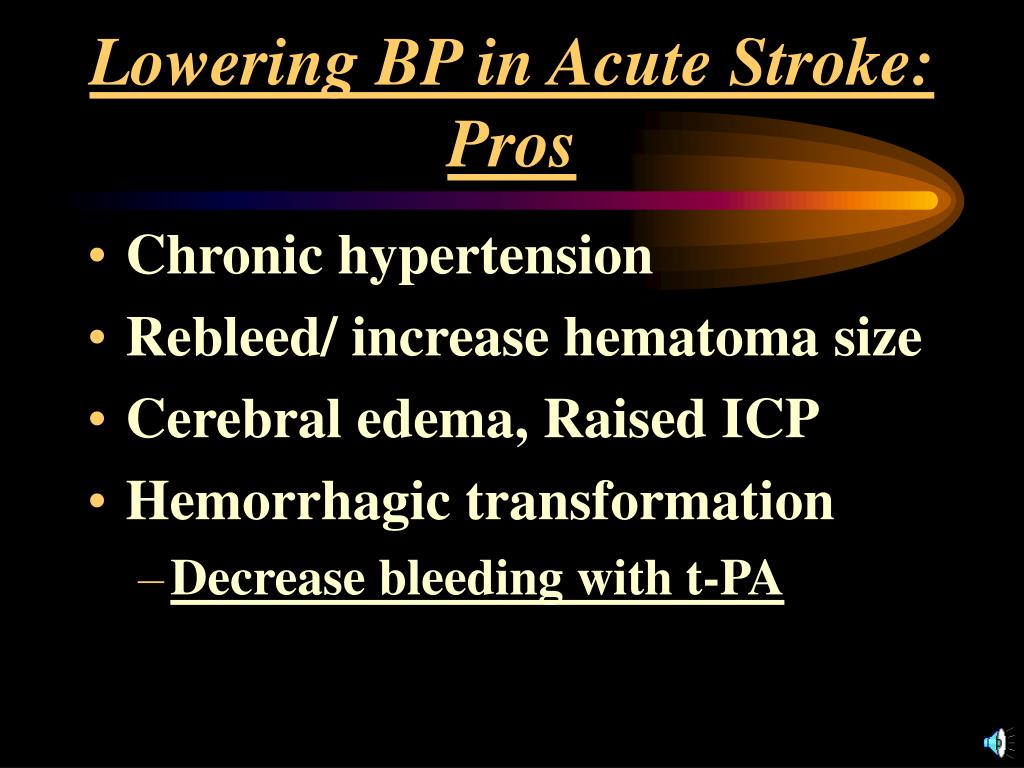 PPT - BLOOD PRESSURE MANAGEMENT IN ACUTE STROKE PowerPoint
