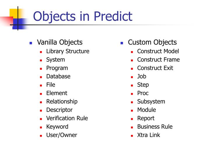 Vanilla Objects