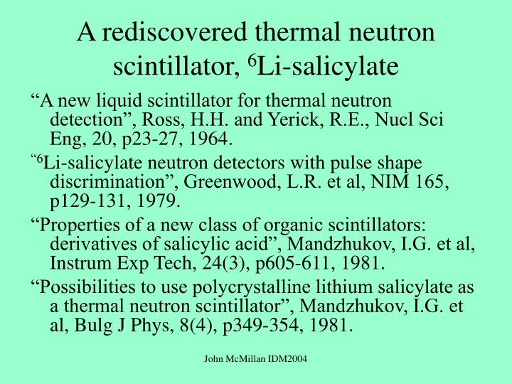 A rediscovered thermal neutron scintillator,