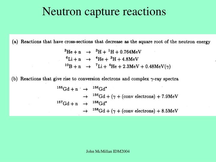 Neutron capture reactions