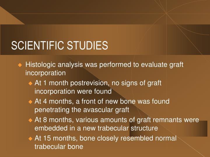 SCIENTIFIC STUDIES