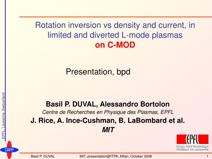 rotation inversion vs density and current in limited and diverted l mode plasmas on c mod n.