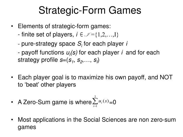 Strategic-Form Games