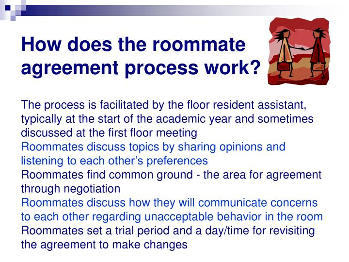 How does the roommate agreement process work?