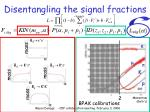 disentangling the signal fractions