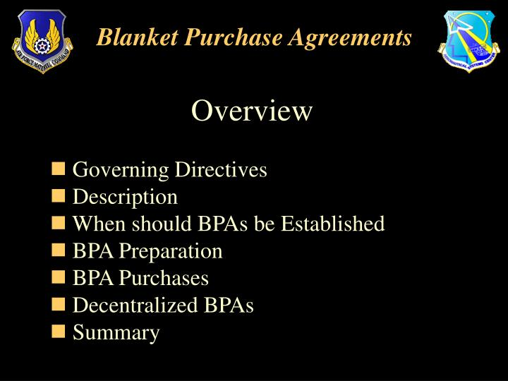 Ppt  Blanket Purchase Agreements Powerpoint Presentation  Id