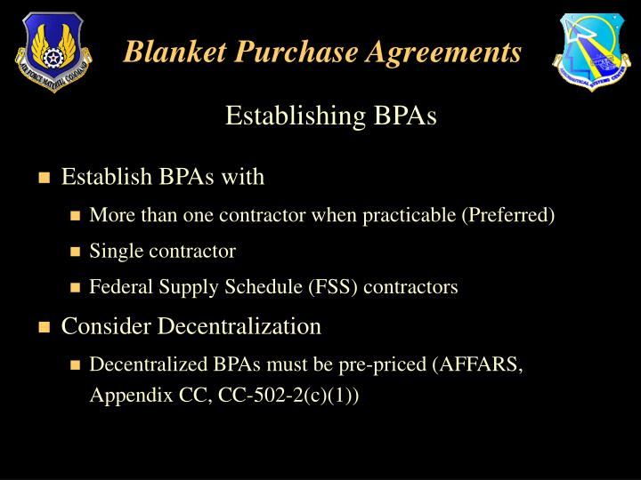 Blanket Purchase Agreements | Ppt Blanket Purchase Agreements Powerpoint Presentation Id 3785227