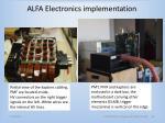 alfa electronics implementation