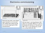electronics commissioning