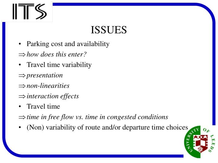 Parking cost and availability