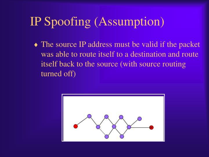 IP Spoofing (Assumption)