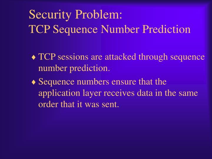 Security Problem: