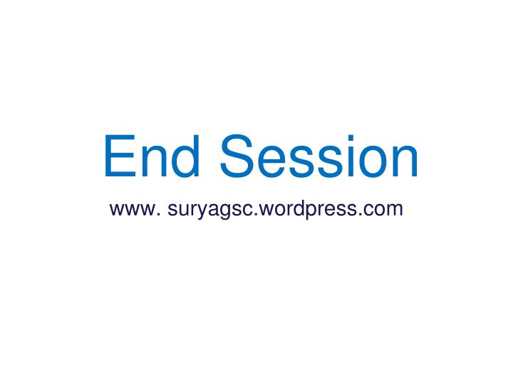 End Session