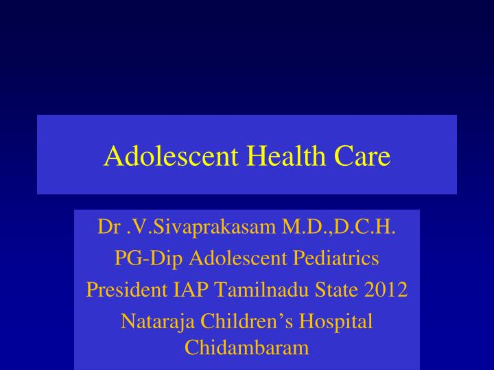 adolescent health care n.